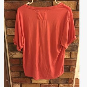 Anthropologie Tops - Anthropolgie Saturday/Sunday Drape Front Coral Top